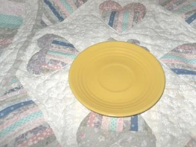 Vintage Bauer Pottery Ringware Saucer Yellow