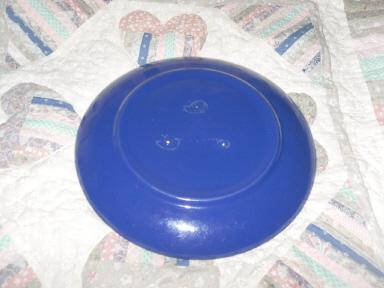 Vintage Bauer Pottery Ringware Dinner Plate Cobalt Blue