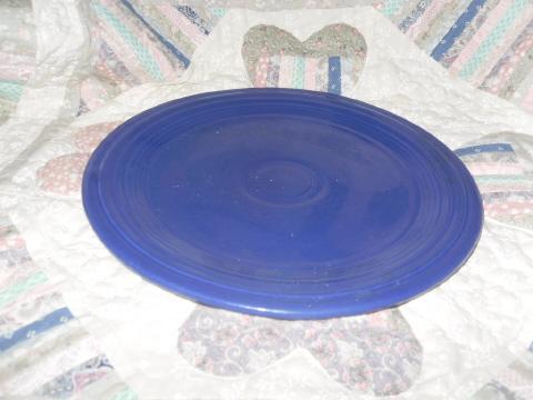 Vintage Fiesta  Blue Dinner Plate