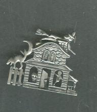 Haunted House Halloween Pin