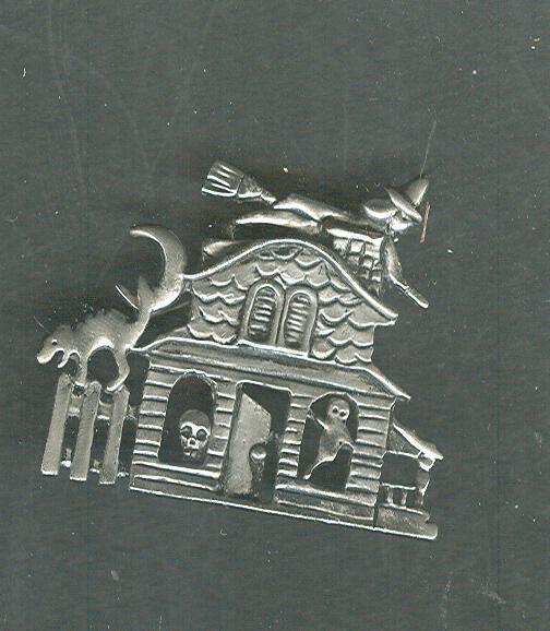 Haunted House Halloween Pin