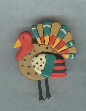 Vintage Hallmark Cards Thanksgiving Turkey Lapel Pin