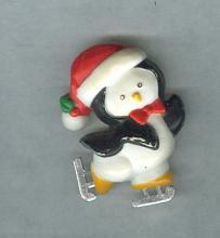 Vintage Hallmark Cards Penquin Christmas Lapel Pin