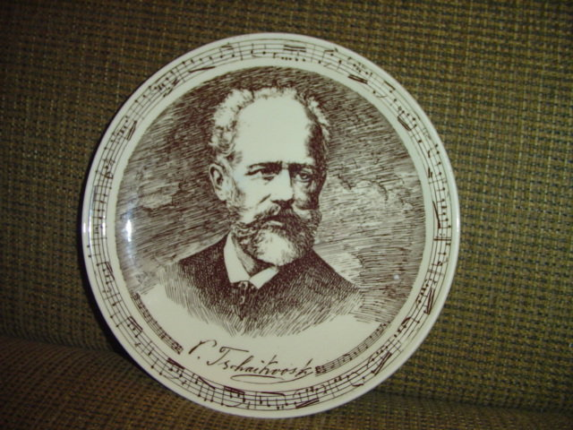 Russian Composer Plate by Vernon Kilns