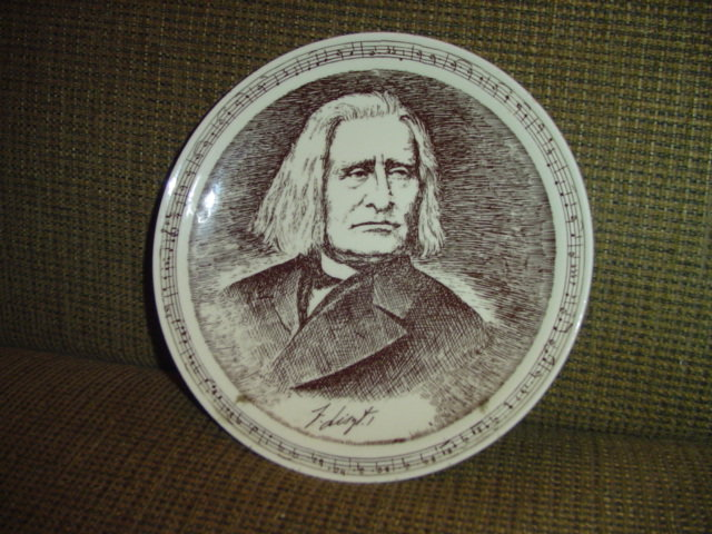 German Composer Plate by Vernon Kilns
