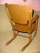 Antique Child's Oak Rocking Chair