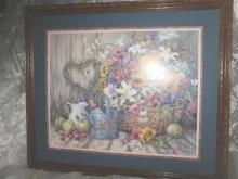 Homco Home Interiors Sunflower Picture    ****LARGE***