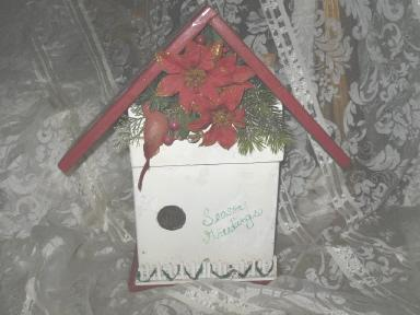Christmas Bird House Decoration   **Larghe**