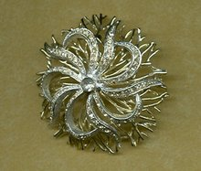 Stylized Floral Brooch