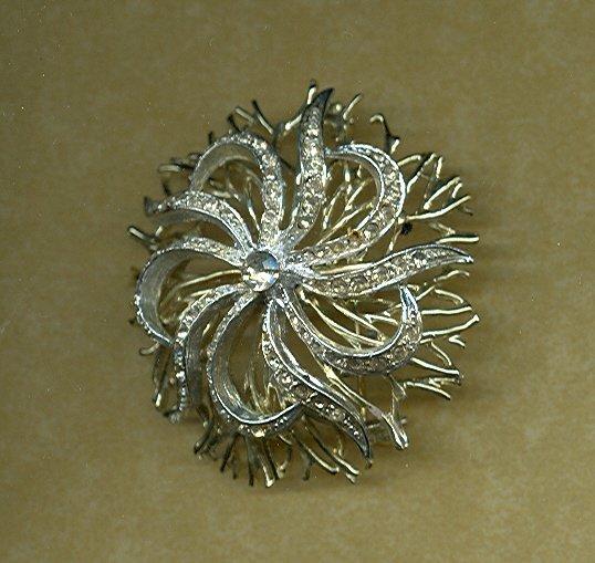 Stylized Floral Brooch