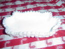 Heavy Quilted Milk Glass Dish