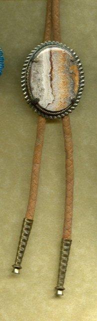 Vintage Agate Bolo Tie