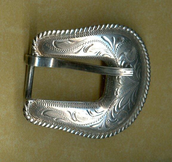 Western Silver Belt Buckle