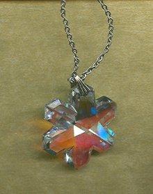 Vintage Crystal Snowflake Pendant