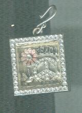 Peace Sign Shadowbox Pendant Necklace  #Statement Necklace