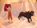 Vintage Matador w/ Bull  Set