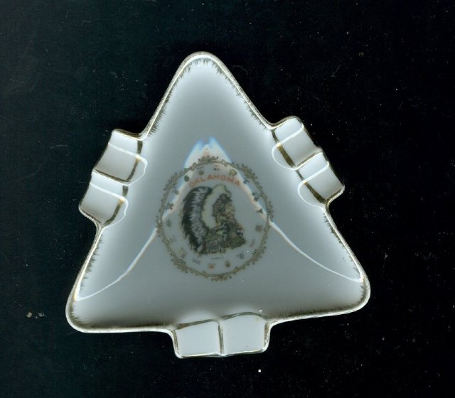 Porcelain Arrowhead  Ashtray