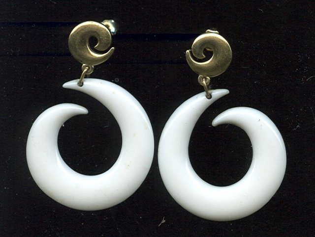 Retro Style Hoop Earrings