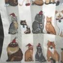Christmas Holiday Cat  Scarf