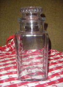 Vintage Glass Candy/Cookie Counter Jar