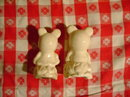 Antique Mickey & Minnie Mouse Salt & Pepper Shakers