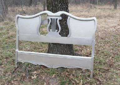 Vintage Lyre Back Headboard  **Full Size Bed**