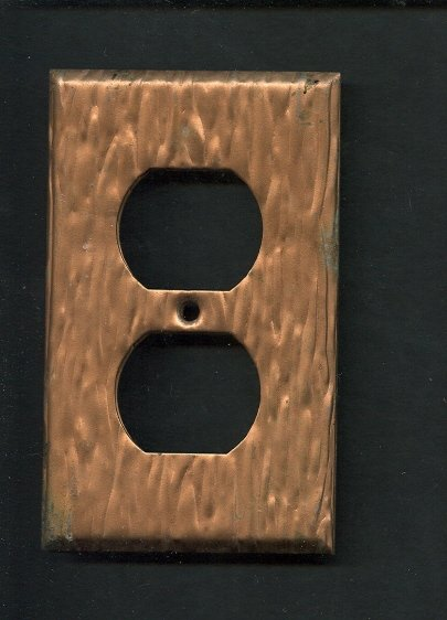 Set of 3 Copper Light Switch Cover & Plug Covers