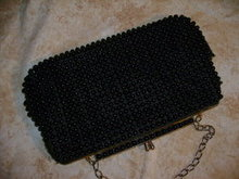 Vintage Black Beaded Handbag