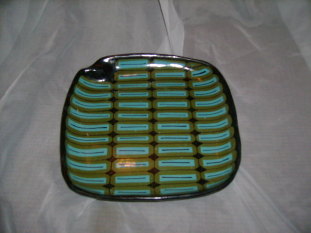 Ialian Pottery Ashtray  Numbered