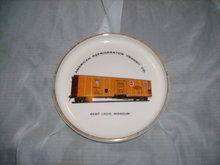 Vintage Railroad Car Ceramic Dish