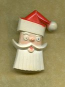 Old Plastic Santa Claus Pin