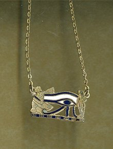 Egyptian Motif Enamel Necklace