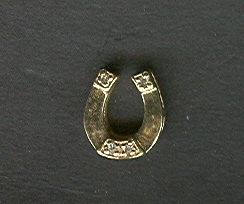 14 kt Gold & Diamond Horse Shoe Tie Tac