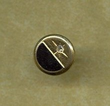 14 kt Gold & Diamond  Tie Tac