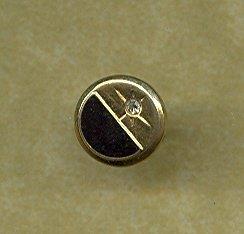 14 kt Gold & Diamond  Tie Tac