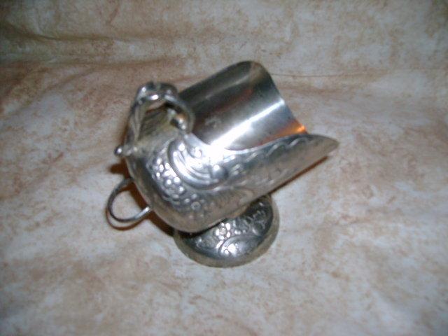 Silver Sugar Bowl & Scoop