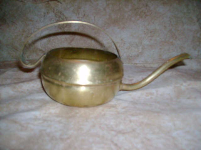 Vintage Brass Water Can