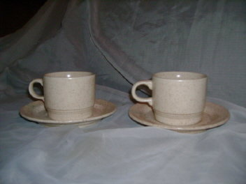 Homer Laughlin USA Dinnerware J-83  Cup & Saucer Pair