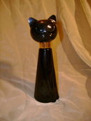 Large Black Cat Avon Bottle *Tabitha