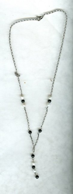 Vintage Sterling Silver & Pearl Drop  Necklace**Hallmarked
