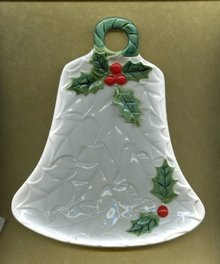Ceramic Christmas Bell Dish