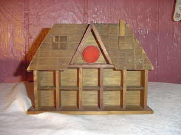 Wooden House Thimble Display
