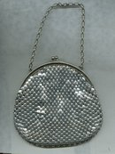 Vintage Whiting Davis Style Metal Mesh Handbag