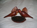 Vintage Hand Carved Wood Bird Sculpture