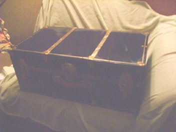 Vintage Metal Steamer Trunk