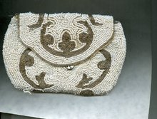 Vintage Hand Beaded Purse or Handbag