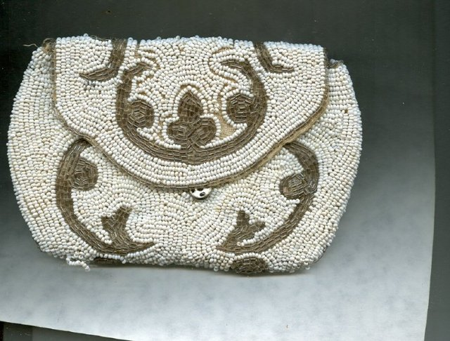 Vintage Hand Beaded Purse or Handbag