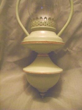 Vintage Style Enamelware Lantern Electric Light Fixture