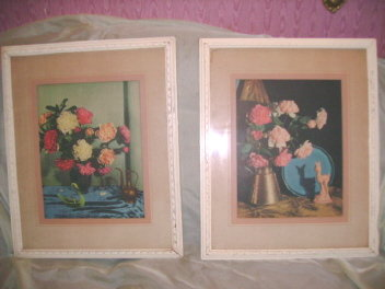 Pair of 50's Modern Framed Prints