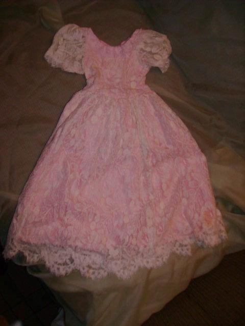 Pink & White Lace Doll Dress
